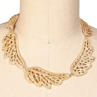 Gold Wing Necklace Set