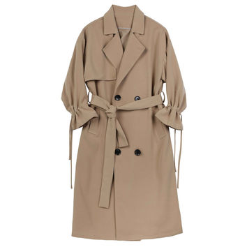 Cinched-wrist Trench
