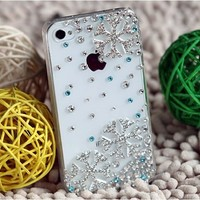 3D Bling Crystal Christmas Snowflake Snow iPhone 4 / 4s Diamond Case Cover Hot:Amazon:Cell Phones & Accessories