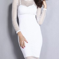 Fabulous Solid With Zips Plain Bodycon-dress