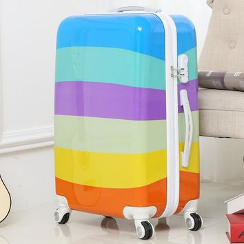 Rainbow kid's Suitcase