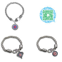 Sports retail center Chicago Cubs baseball bracelets bangles male or female fashion jewelry