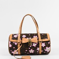 "Louis Vuitton Brown Multicolor Monogram Canvas Cherry Blossom ""Papillon"" Bag"