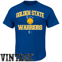 Golden State Warriors Hardwood Classics Heart & Soul T-Shirt - Royal Blue