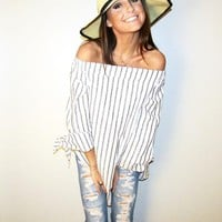 Off the Shoulder Tunic Top