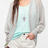 Urban Outfitters - Sparkle & Fade Textured Dot Oversized Cardigan