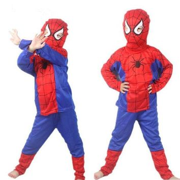 PEAPUNT Red spiderman costume black spiderman halloween costumes for kids superhero capes anime cosplay carnival costume Baby Gift
