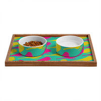 Allyson Johnson Bright Birdies Pet Bowl and Tray