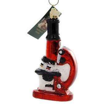 Old World Christmas MICROSCOPE Glass Minute Organisms 36242
