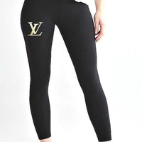 LV Balenciaga Fendi GUCCI Moschino Givenchy Inspired Ankle Length Sports Leisure Leggings