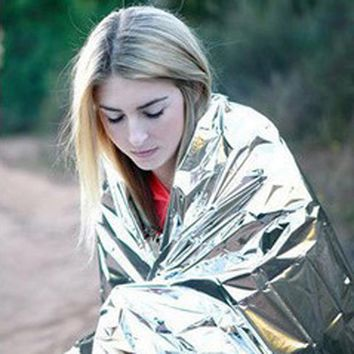 outdoor survive emergent blanket 2.1*1.3m 50g rescue first aid waterproof travel camp tent hike silver tool hunt thermal