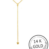 Tri'd & True Y-Shaped Necklace by Kitsch {Gold}