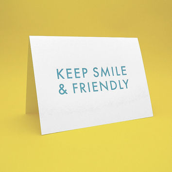 All occasions Card w/ Envelope - 5x7 debossed - Keep Smile & Friendly