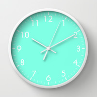 Mint Wall Clock by Beautiful Homes