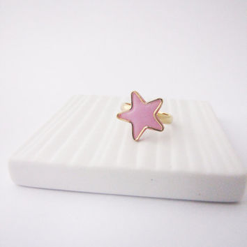 Pastel star ring . Geometric ring. Star ring