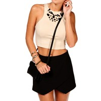 Tan Cropped Mini Tank