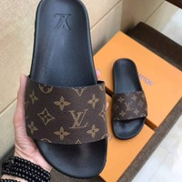 LV Louis Vuitton Men Flip Flop Sandal Slipper