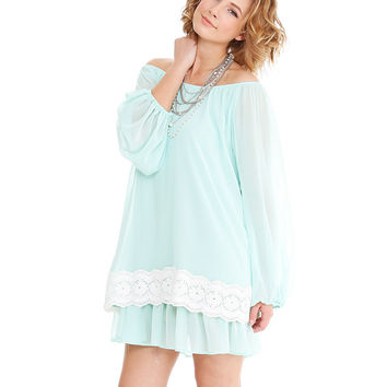 Megan Dress in Mint by 2Tee Couture