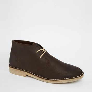 ASOS Desert Boots in Waxed Suede