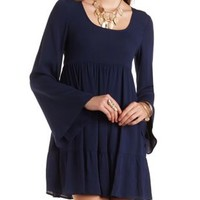 Scoop Neck Peasant Dress by Charlotte Russe