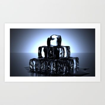 Ice Cubes Art Print by Mixed Imagery