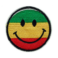 All Smiles Rasta Patch