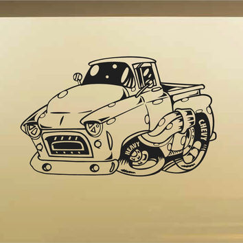 Chevy Pick Up Truck Car Wall Decal - Auto Wall Mural - Vinyl Stickers - Boys Room Decor