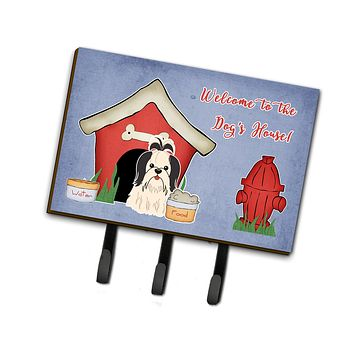 Dog House Collection Shih Tzu Black White Leash or Key Holder