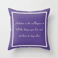30 Rock Inspired 16x16 Throw Pillow TV Show Jack Donaghy Quote Decorative Cover Pop Culture Humor Funny Brown Grey Couch Art Home Cushion