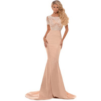 Eyelash Lace Formal Maxi Dress LAVELIQ