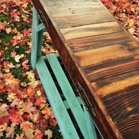 Rustic Reclaimed Sofa Table | Entry Table | Weathered Turquoise