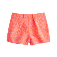 J.Crew Womens Tap Short In Neon Coral Jacquard