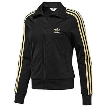 DCCKB3R Adidas' Women Fashion Hooded  Zip Cardigan Jacket Coat Sweatshirt