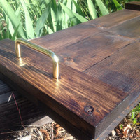 Rustic wooden serving tray with handles, rustic wedding, wedding gift