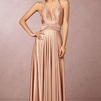 Ginger Convertible Maxi by Anthropologie x BHLDN in Rosewater Size: