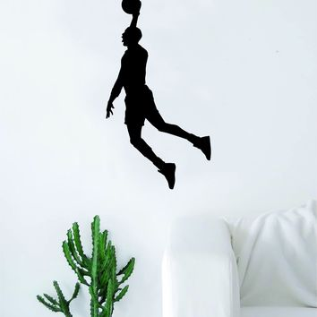 Basketball Dunk V2 Wall Decal Quote Vinyl Sticker Decor Bedroom Living Room Teen Kids Nursery Sports NBA Ball is Life Dunk