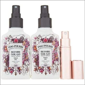 Poo-Pourri Set of (2) 4-oz Deodorizers with Glitzy Spritz