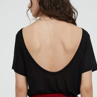 Top with Low-cut Back - Black - Ladies | H&M US