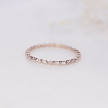 Rose Gold Eternity band, gold statement ring, cz statement ring,CZ ring, stackable ring, costume jewelry,cocktail ring, fashion ring