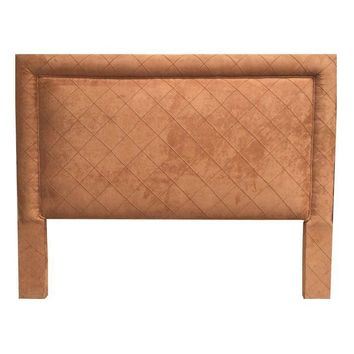 Pre-owned Custom Queen Micro Fiber Quilted Headboard