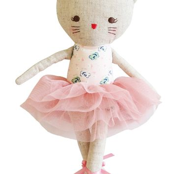 ALIMROSE ODETTE KITTY BALLERINA 25CM BLUSH
