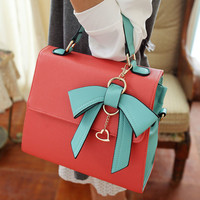 Elegant Red Bow Handbag&shoulder Bag