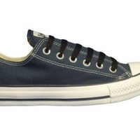 Converse Chuck Taylor All Star Lo Top Navy Canvas Shoes with Extra Pair of Black Laces