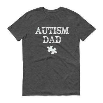 Men's Autism Dad Autism Awareness Day Products for gift T-shirt