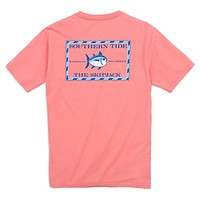 Original Skipjack Tee Shirt in Light Coral by Southern Tide
