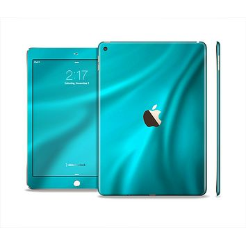 The Turquoise Highlighted Swirl Skin Set for the Apple iPad Pro