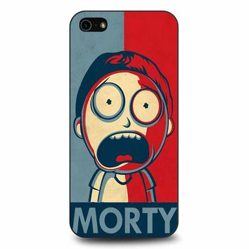 Rick And Morty In Style Of Shepard Morty iPhone 5/5s/SE Case