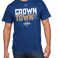 Kansas City Royals MLB Men's 2015 World Series Champions Crown Town T-Shirt (Medium)