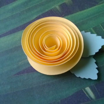 yellow rose boutonniere groomsman pin back groom paper flower lapel brooch bridal party bridal shower wedding reception family favors