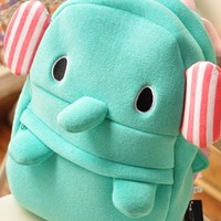 Cute Elephant Plush Backpack (elephant)